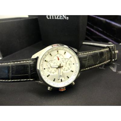Đồng hồ nam dây da Citizen Chronograph CA0356-G1A