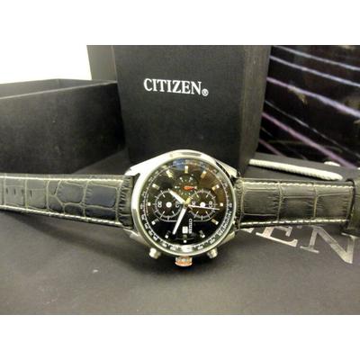 Đồng hồ nam dây da Citizen Chronograph CA0361-58e