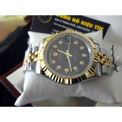 Đồng hồ nam tự động Rolex DayDate 2 41mm semi gold