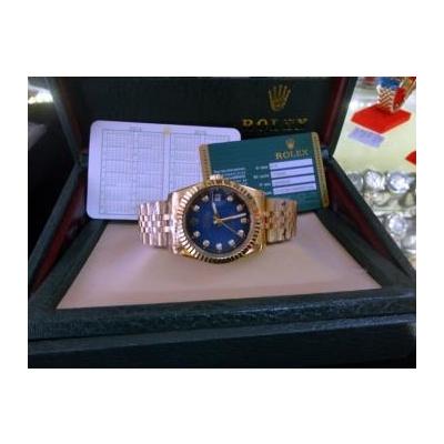 Đồng hồ nam tự động Rolex Dayjust Gold and Blue