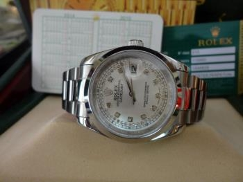Đồng hồ nam tự động Rolex Dayjust steel and white gold