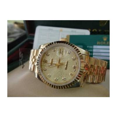 Đồng hồ nam tự động Rolex Dayjust yellow gold and 3d