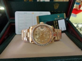 Đồng hồ nam tự động Rolex Dayjust yellow gold and diamond
