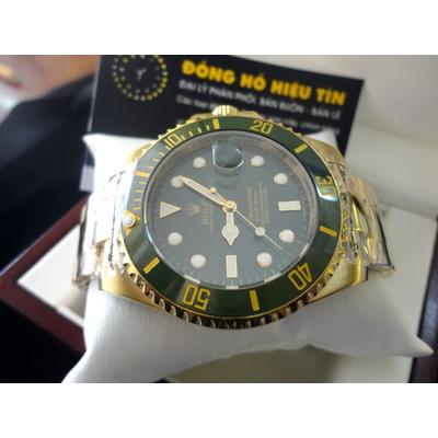 Đồng hồ nam tự động Rolex Submariner Date 43mm blue yellow gold