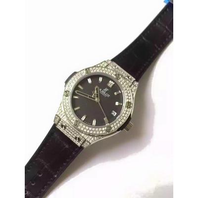 Đồng hồ nữ Hublot diamond stainless steel case dial black HBL065
