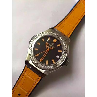 Đồng hồ nữ Hublot full diamond dial orange HBL056