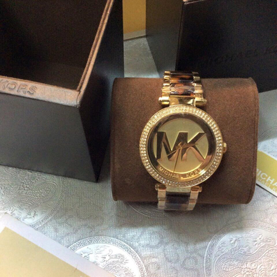 Đồng hồ nữ Michael Kors Parker Champagne Tortoise-shell Acetate MK6109