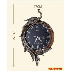 Đồng hồ trang trí chim khổng tước quý phái