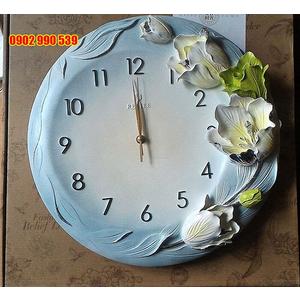 Đồng hồ trang trí nghệ thuật hoa tulip
