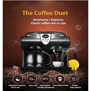 Donlim KF7001 máy pha cà phê 2 ngăn pha espresso americano cappuccino
