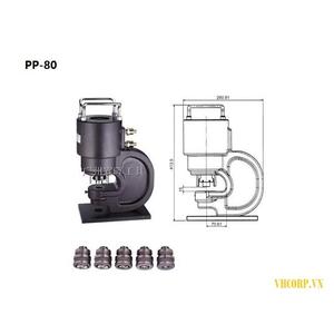 Đầu đột lỗ thanh cái thủy lực OPT PP-80