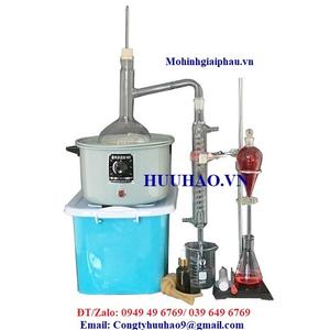 Dụng cụ chưng cất 1000 ml chiết xuất tinh dầu bằng hơi nước mini- chất liệu thủy tinh