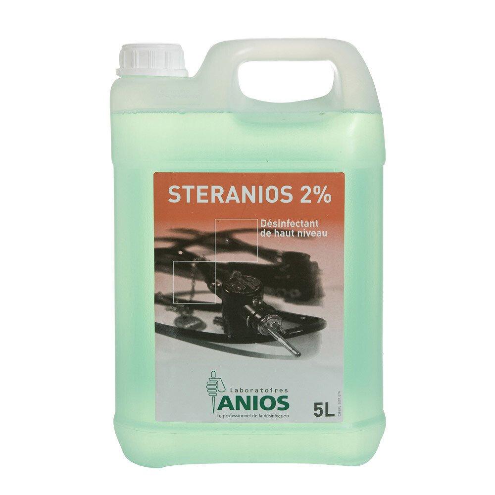 Dung dịch khử khuẩn mức độ cao dụng cụ nội soi và các dụng cụ không chịu nhiệt Steranios 2% (5 lít)