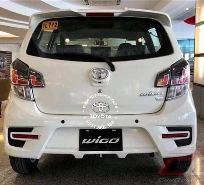 Thiết kế đuôi xe Toyota Wigo 2021 nhập