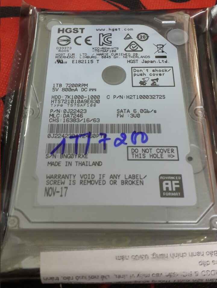 ổ cứng laptop 1tb 7200rpm