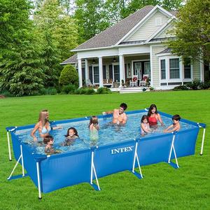 Bể bơi cao cấp INTEX 28273 khung kim loại chữ nhật 4.5m x 2.2m x 0.84m, tiêu chuẩn Châu Âu