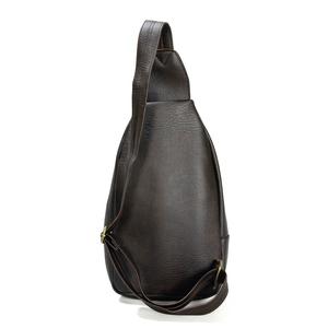 Túi da đeo chéo CNT unisex MQ11 phong cách hàn quốc Nâu