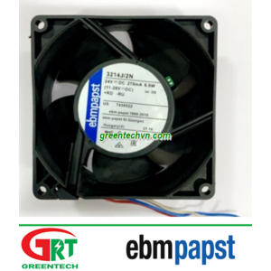 EBMPapst 3214 J/2N | Quạt tản nhiệt EBMPapst 3214 J/2N | Fan EBMPapst 3214 J/2N