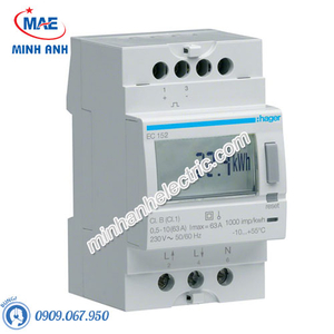 Timer 24h Hager - Model EC152 dòng Push Button