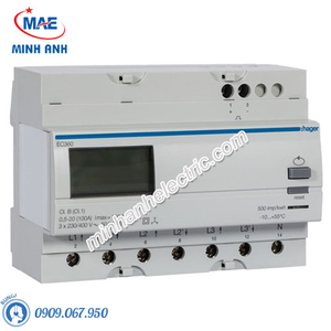 Timer 24h Hager - Model EC360 dòng Push Button