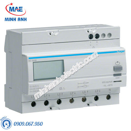 Timer 24h Hager - Model EC365B dòng Push Button