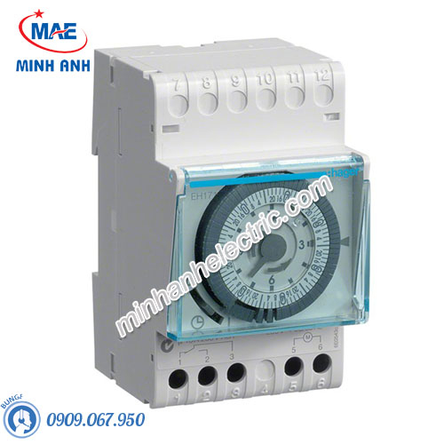 Timer 24h Hager - Model EH171 loại Analog