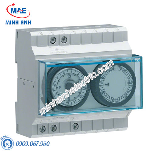 Timer 24h Hager - Model EH191 loại Analog
