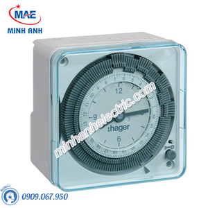 Timer 24h Hager - Model EH711 loại Analog 72x72mm