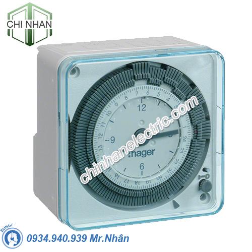 Timer 24h Hager - Model EH711 Analog 72x72