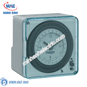 Timer 24h Hager - Model EH712 loại Analog 72x72mm