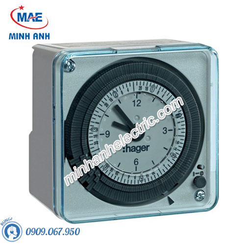 Timer 24h Hager - Model EH771 loại Analog 72x72mm