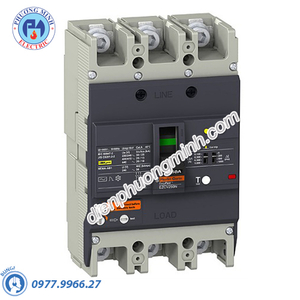 ELCB Type H 3P 125A 36kA 415VAC 0.1-1A - Model EZCV250H3125
