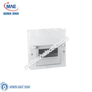 Tủ điện âm tường, vỏ kim loại chứa 6 MCB - Model EMC6PL