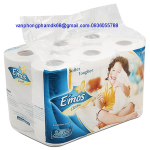 Giấy vệ sinh Emos 12 cuộn,có lõi