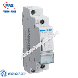 Timer 24h Hager - Model EPN512 dòng Latching Relay