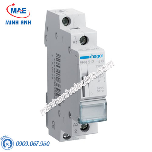 Timer 24h Hager - Model EPN513 dòng Latching Relay