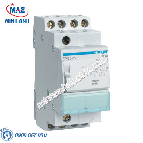 Timer 24h Hager - Model EPN525 dòng Latching Relay