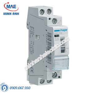 Timer 24h Hager - Model ERD218 dòng Latching Relay