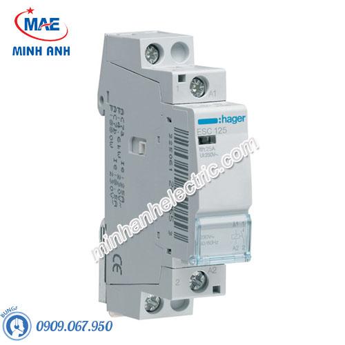 Timer 24h Hager - Model ESC125 dòng Contactor