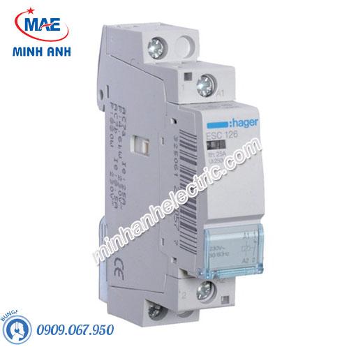Timer 24h Hager - Model ESC126 dòng Contactor