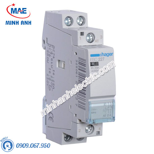 Timer 24h Hager - Model ESC227 dòng Contactor