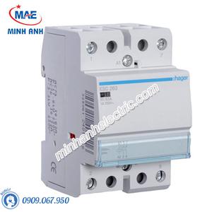 Timer 24h Hager - Model ESC263 dòng Contactor