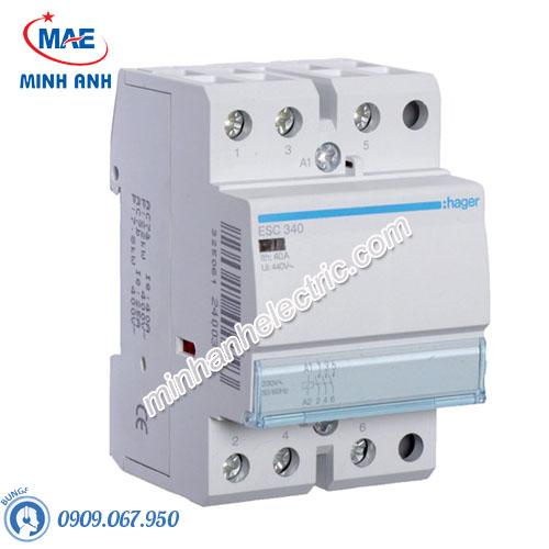 Timer 24h Hager - Model ESC340 dòng Contactor