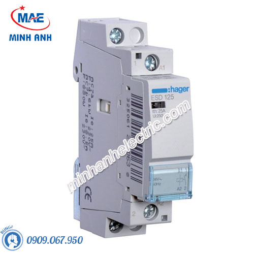 Timer 24h Hager - Model ESD125 dòng Contactor