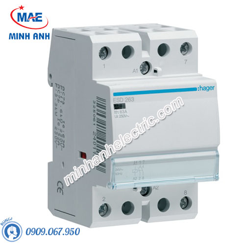 Timer 24h Hager - Model ESD263 dòng Contactor