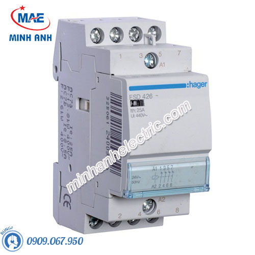 Timer 24h Hager - Model ESD426 dòng Contactor