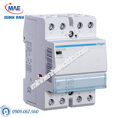 Timer 24h Hager - Model ESD440 dòng Contactor