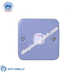 Công tắc đơn 1 chiều 10A mặt kim loại - Model ESM31_1_2AR