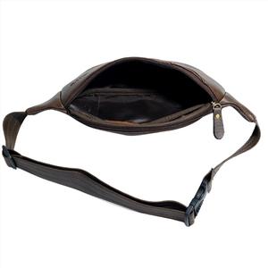 Túi da đeo ngực CNT unisex TĐX40 cá tính Nâu