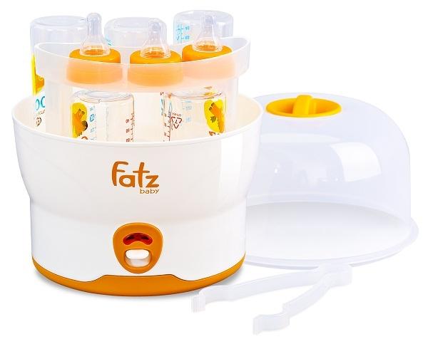 Máy tiệt trùng bình sữa siêu tốc 6 bình không BPA Fatzbaby FB4019SL